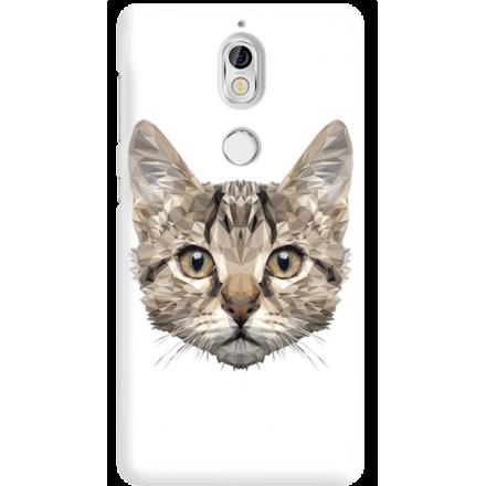 Etui na telefon Nokia 7 Kot Geometryczny