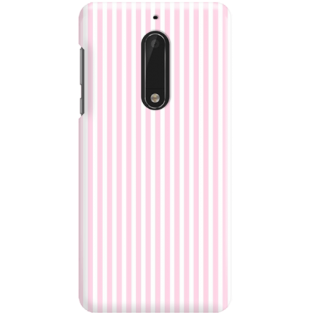 Etui na telefon Nokia 5 Candy Różowe Paski