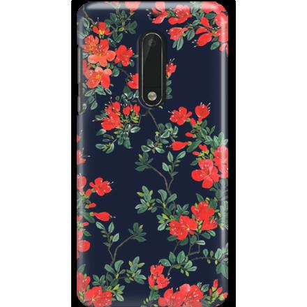 Etui na telefon Nokia 5 Czerwone Kwiaty
