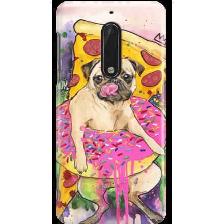 Etui na telefon Nokia 5 Głodny Mops