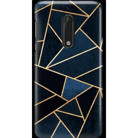 Etui na telefon Nokia 5 Geometyczne Indygo