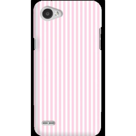 Etui na telefon LG Q6 Candy Różowe Paski