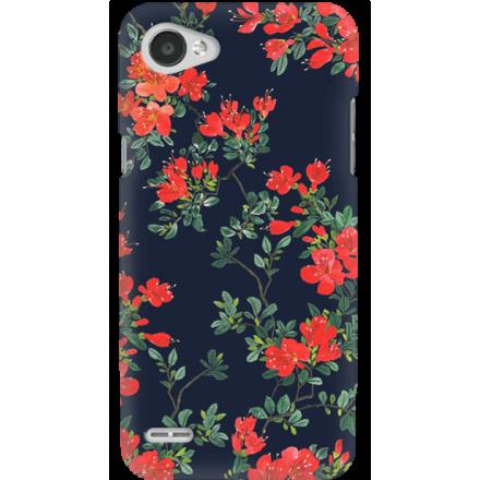 Etui na telefon LG Q6 Czerwone Kwiaty