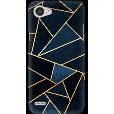Etui na telefon LG Q6 Geometyczne Indygo