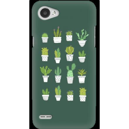 Etui na telefon LG Q6 Kaktusy