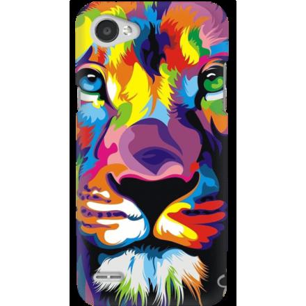 Etui na telefon LG Q6 Kolorowy Lew