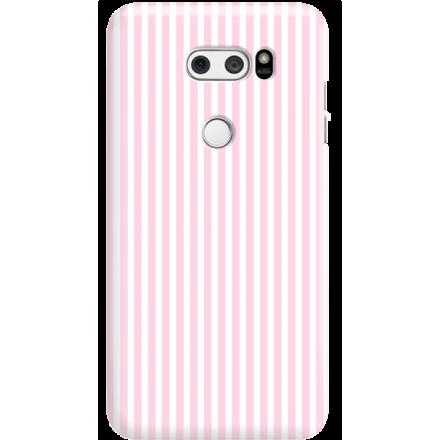 Etui na telefon LG V30 Candy Różowe Paski