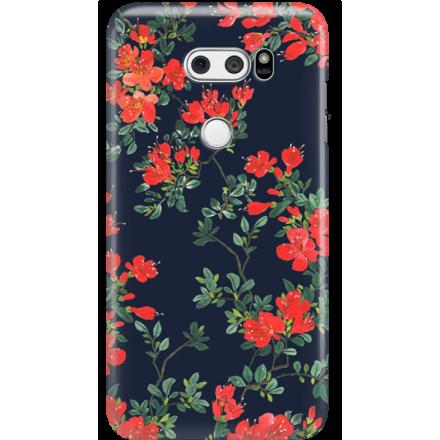 Etui na telefon LG V30 Czerwone Kwiaty