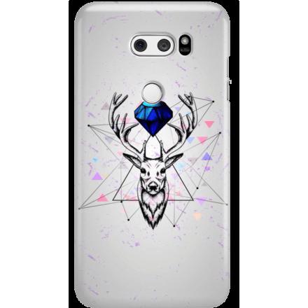Etui na telefon LG V30 Jeleń Geometryczny