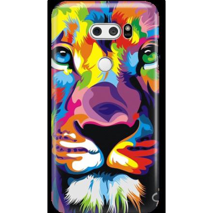 Etui na telefon LG V30 Kolorowy Lew