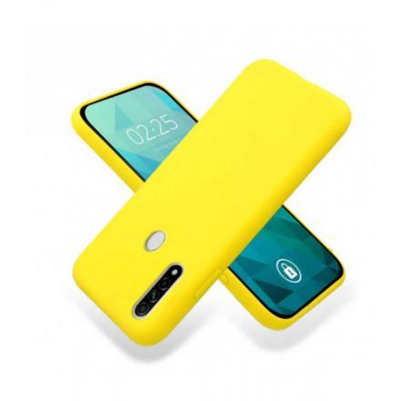 ETUI GUMA SMOOTH NA TELEFON OPPO A8 / A31 2020 ŻÓŁTY