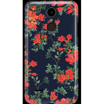 Etui na telefon LG K8 Dual 2017 Czerwone Kwiaty