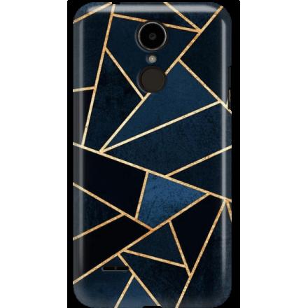 Etui na telefon LG K8 Dual 2017 Geometyczne Indygo