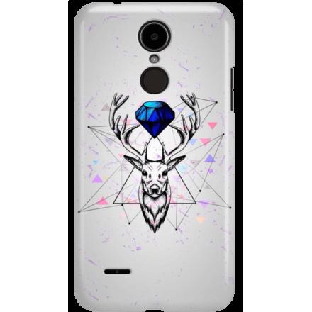 Etui na telefon LG K8 Dual 2017 Jeleń Geometryczny