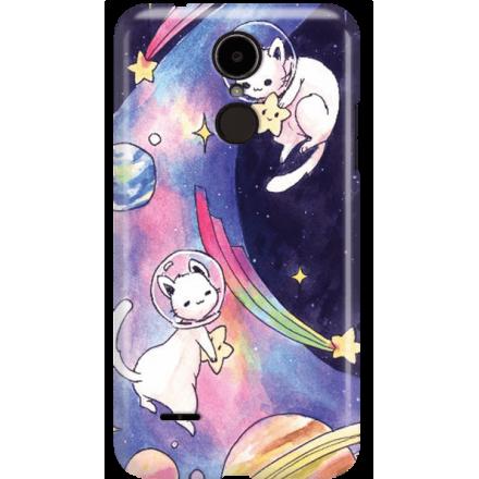 Etui na telefon LG K8 Dual 2017 Kosmiczne Koty