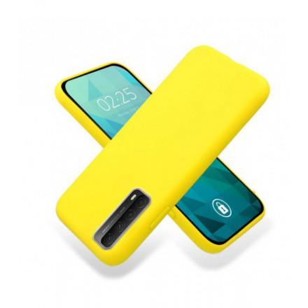 ETUI GUMA SMOOTH NA TELEFON SAMSUNG GALAXY A90 5G ŻÓŁTY