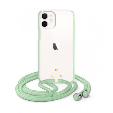 ETUI SUMMER CROSSBODY NA TELEFON APPLE IPHONE 12 MINI MIĘTOWY