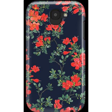 Etui na telefon LG K3 2017 Czerwone Kwiaty