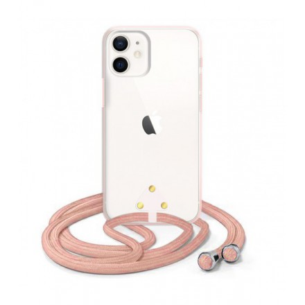 ETUI SUMMER CROSSBODY NA TELEFON APPLE IPHONE 12 MINI RÓŻOWY