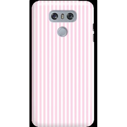 Etui na telefon LG G6 Candy Różowe Paski