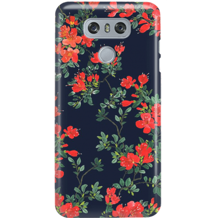 Etui na telefon LG G6 Czerwone Kwiaty