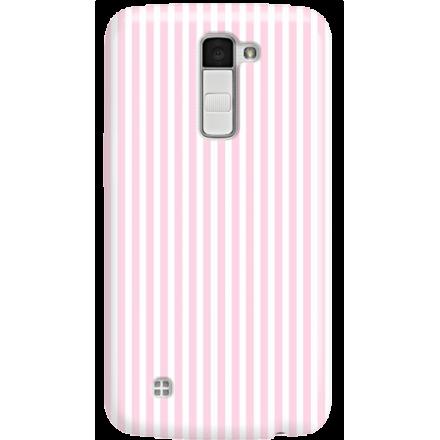 Etui na telefon LG K10 Candy Różowe Paski