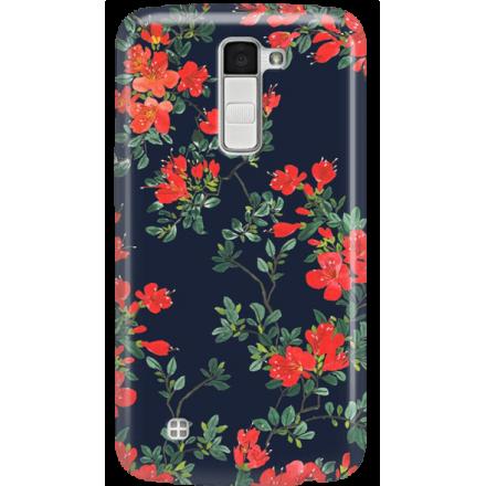 Etui na telefon LG K10 Czerwone Kwiaty