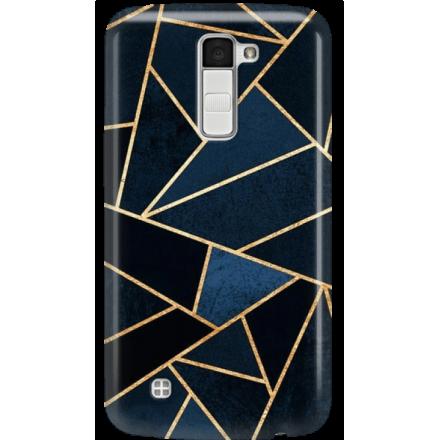 Etui na telefon LG K10 Geometyczne Indygo
