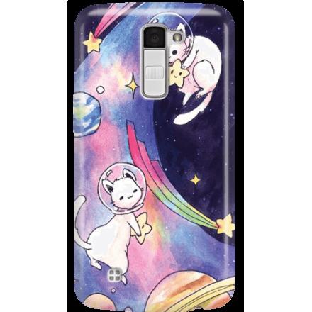 Etui na telefon LG K10 Kosmiczne Koty
