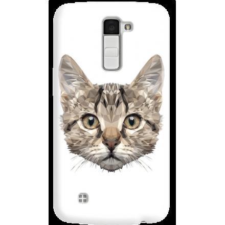 Etui na telefon LG K10 Kot Geometryczny