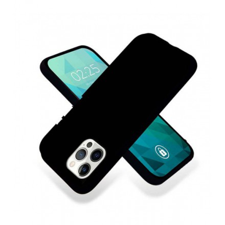 ETUI GUMA SMOOTH NA TELEFON APPLE IPHONE 12 PRO MAX GRANATOWY