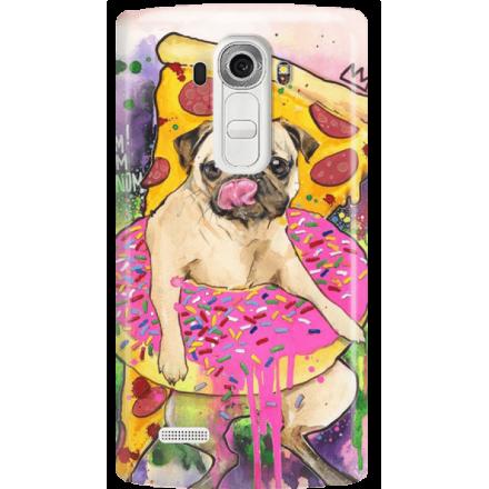 Etui na telefon LG G4 Głodny Mops