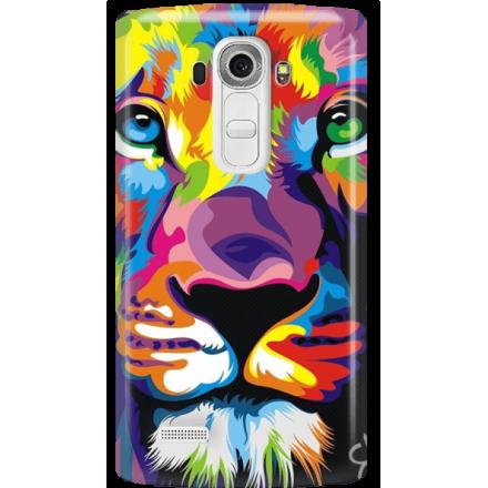 Etui na telefon LG G4 Kolorowy Lew