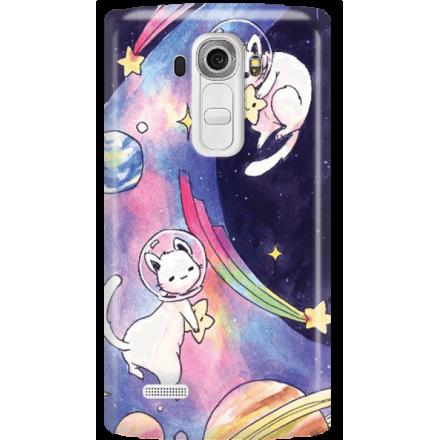 Etui na telefon LG G4 Kosmiczne Koty