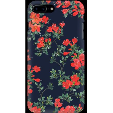 Etui na telefon Iphone 7 Plus / 8 Plus Czerwone Kwiaty
