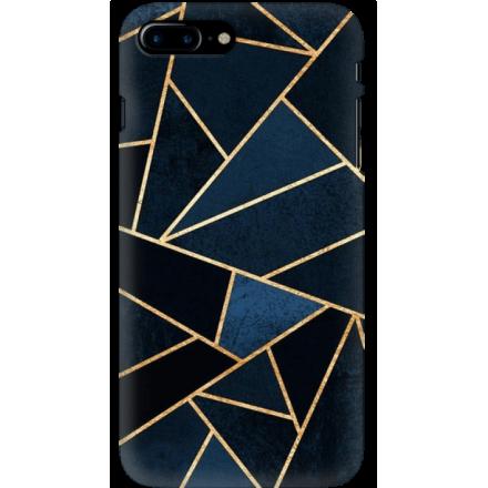 Etui na telefon Iphone 7 Plus / 8 Plus Geometyczne Indygo