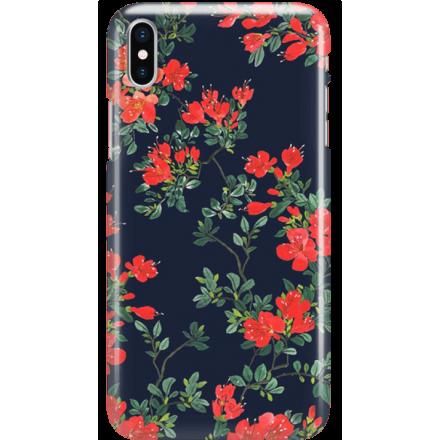 Etui na telefon Iphone X Czerwone Kwiaty