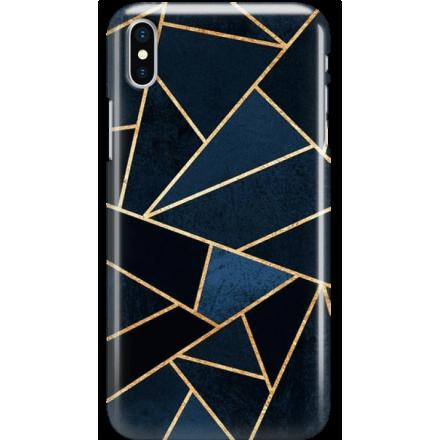 Etui na telefon Iphone X Geometyczne Indygo