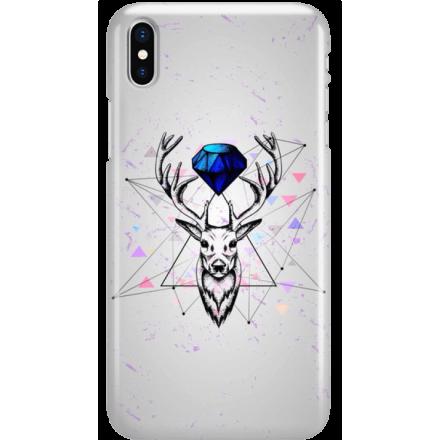 Etui na telefon Iphone X Jeleń Geometryczny