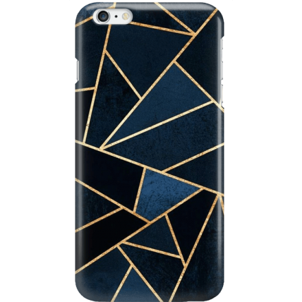 Etui na telefon Iphone 6 Plus / 6S Plus Geometyczne Indygo
