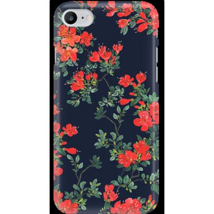 Etui na telefon Iphone 7 / 8 Czerwone Kwiaty