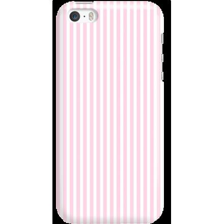 Etui na telefon Iphone 5 5S SE Candy Różowe Paski