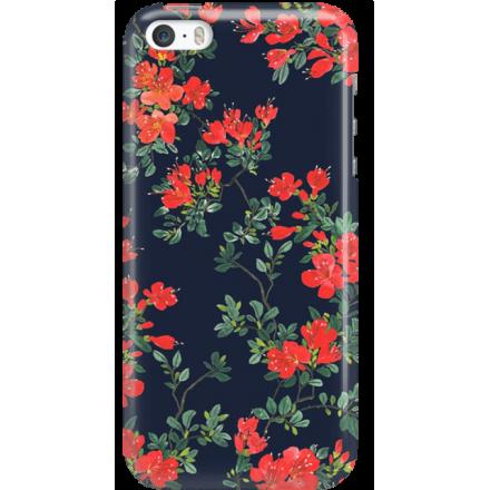 Etui na telefon Iphone 5 5S SE Czerwone Kwiaty