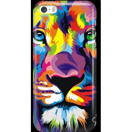 Etui na telefon Iphone 5 5S SE Kolorowy Lew