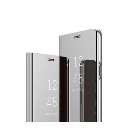 ETUI BOOK CLEAR VIEW NA TELEFON SAMSUNG A02s SREBRNY