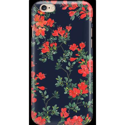 Etui na telefon Iphone 6 6S Czerwone Kwiaty