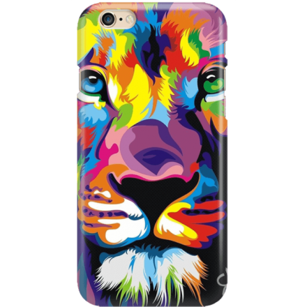 Etui na telefon Iphone 6 6S Kolorowy Lew