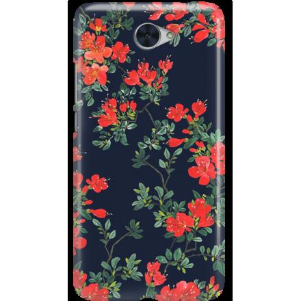Etui na telefon Huawei Y7 Czerwone Kwiaty
