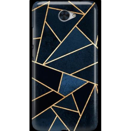 Etui na telefon Huawei Y7 Geometyczne Indygo