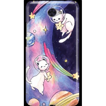 Etui na telefon Huawei Y7 Kosmiczne Koty